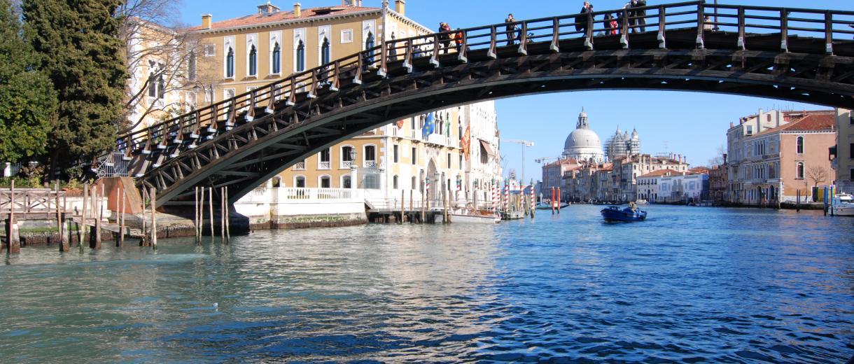 Accademia Bridge on Grand Canal - VenicePonte dell'Accademia sul Canal Grande - Venezia