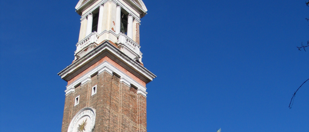 The bell tower of Santi Apostoli Church - Venice