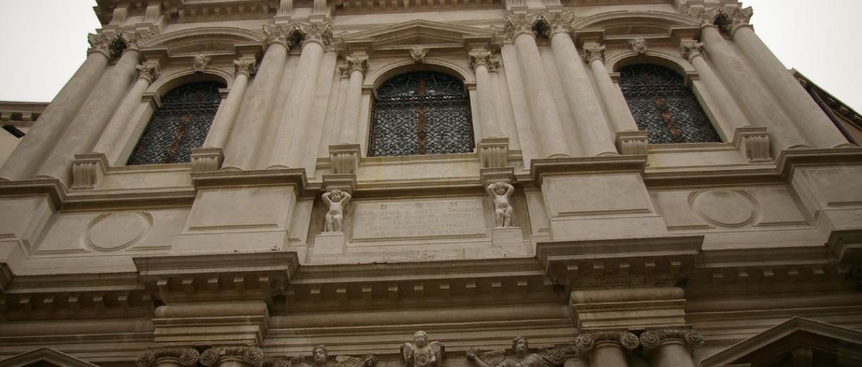 Facciata della Chiesa di San Salvador a Venezia