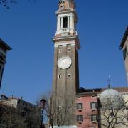 Bell tower of Santi Apostoli Church - Venice