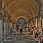 Portico of Doge's Palace - Saint Mark's Square - Venice